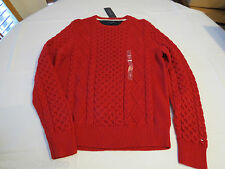 Men's Tommy Hilfiger long sleeve sweater shirt L 7844938 Sweater Red 617 NEW