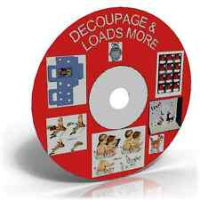 DECOUPAGE DVD CD WITH 30,000 + IMAGES & LOADS EXTRA