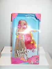 NIB 1996 MATTEL HULA HAIR BARBIE #17047 BLONDE PINK YELLOW ORANGE HAIR