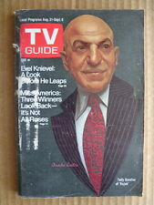 TV GUIDE magazine 1974 Telly Savalas KOJAK-Evil Knievel-MAUREEN REAGAN-Darrow