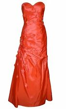 Orange Tafetta Evening / Bridesmaid Dress UK8 By Amanda Wyatt