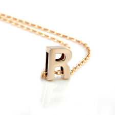 Fashion Womens Gold Plated Initial Alphabet Letter M Pendant Chain Necklace