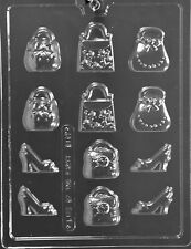 PURSES AND SHOE BITES CHOCOLATE CANDY MOLD MOLDS PARTY FAVORS CUPCAKE TOPPERS