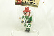 Vintage Santa's Workshop Worker Christmas Ornament Holiday Tree Decoration 4x2