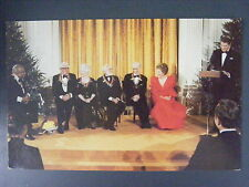 Ronald & Nancy Reagan Kennedy Center Count Basie Cary Grant Color Postcard 1981