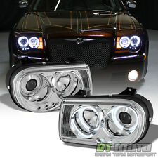 2005-2010 Chrysler 300C LED CCFL Halo Projector Headlights Headlamps Left+Right