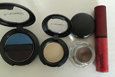Mac Make Up - Selling as a pack - 2 x Eye Shadow + 1 x Fluidline + 1 x Lip Glass