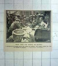 1917 London Market Grocer Busy Selling Seed Potatoes
