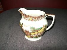 "BARKER BROS ENGLAND ROYAL TUDOR WARE ""OLDE ENGLAND"" BROWN MULTICOLOR CREAMER"