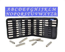 CALLIGRAPHIC UPPERCASE PUNCH STAMP 27PC SET W/CASE (3MM) BEADSMITH METAL JEWELRY
