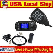 QYT KT-8900D VHF UHF Mobile Radio Mic+Dual Band Antenna+ Bracket+Coaxial Cable