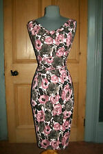 "GORGEOUS PHASE EIGHT ""FREIDA"" PRALINE FLORAL EVENING DRESS , SIZE 12"