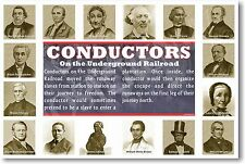 NEW Social Studies Classroom POSTER - Conductors on the Underground Railroad