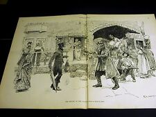 E.A. Abbey RETURN of the NATIVE Welcome Back to Town 1886 Large Folio Print