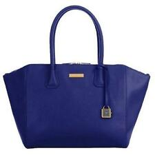 "Joy & Iman ""Best Friend"" City Satchel Leather W/ Clock & Flashlight Blue"