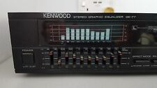 RARE KENWOOD GE-77 9 band Stereo Graphic Equalizer with spectrum analizer - 1988