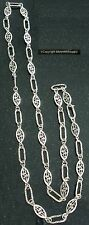 3' Sterling silver plated handmade filigree link jewelry chain ch119