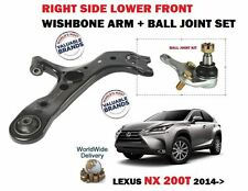 FOR LEXUS NX 200T 300H 2014- NEW RIGHT SIDE LOWER WISHBONE ARM + BALL JOINT SET