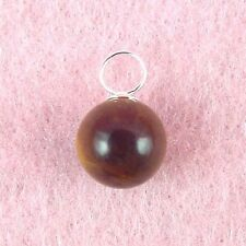 Sterling Silver - 10mm Tiger's Eye Ball Pendant (PD482)