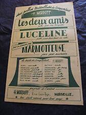 Partition Les deux amis Luceline Marmotteuse H Mordoff Polkas Marseillaises