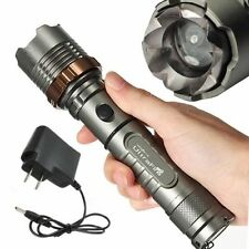 UltraFire 2200Lm CREE XM-L T6 LED Zoomable Tactical Flashlight Torch +AC Charger