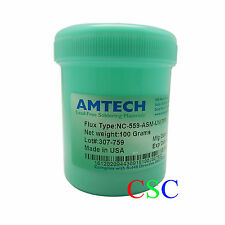 New NC-559-ASM-UV TPF Flux Anti-wet 100g AMTECH BGA Rework Reballing Flux Paste