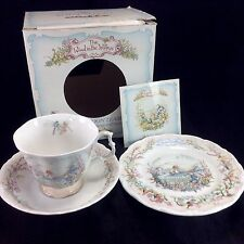 Royal Albert Portly's Return Tea Set Cup Saucer Plate Wind in the Willows