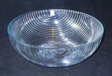 "HOLMEGAARD Art GLASS Clear Ribbed Bowl 11"" Diameter JORGENSEN Denmark"