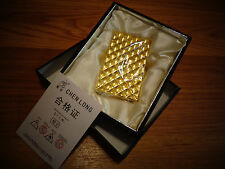 *Electronic Sensor classic *WINDPROOF CIGARETTE LIGHTER *GOLD* NEW IN GIFT BOX *