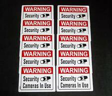 Lot of 10 WATERPROOF METAL Security CCTV Surveillance Video Camera Warning Signs