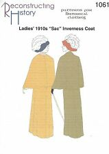 Schnittmuster RH 1061 Paper pattern: 1910s Lady's Sac Inverness Coat