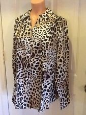 Lane Bryant, NWT, Plus Sz 24, Tans and Brown in Animal Print, Long Sleeve Blouse
