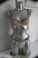 ensemble luxe dentelle NAUGHTY JANET REGER string tanga 38 à 42 SG 85B val 450€