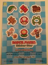 Nintendo Paper Mario Sticker Star 3DS Stickers