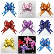 PULL BOWS 30M RIBBON ALL MIX  COLOURS  WEDDING CARS GIFT WRAP EASTER ALL FLOWER