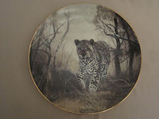 LEOPARD collector plate LONE HUNTER Charles Frace GRAND SAFARA: IMAGES OF AFRICA