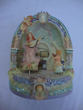 Musical Animated Angel Figurine Tune: Music Box Dancer Hand- Painted Classic