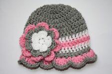 New Crochet Baby Girl Flower Hat Cap Bonnet 0-6 month#