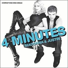 MADONNA & JUSTIN 4 Minutes CD Maxi-Single 6 Tracks 2008 Warner Bros Promo