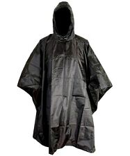 RIP-STOP WATERPROOF WINDPROOF PONCHO/BASHA black SAS military hooded coat jacket