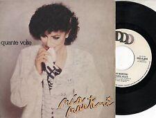 MIA MARTINI  raro disco 45 giri STAMPA ITALIANA Quante volte + Solo noi 1982