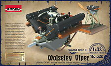 Roden 626 Wolseley Viper 1/32 unaasembled plastic model kit of engine