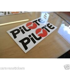 PILOTE 'Red Dawn' - (PRINTED) - Motorhome Name Sticker Decal Graphic - SINGLE