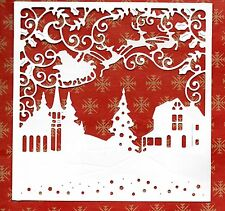 NEW LARGE WINTER WONDERLAND SCENE FRAME  DIE CUTS - WHITE CHRISTMAS TOPPER-