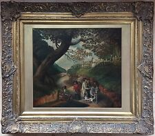 19th century oil painting on canvas signed W.Taylor gilt frame