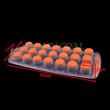 EASY POP OUT SHAPE ICE 21 CUBE JELLY CHOCOLATE PUDDING MAKER TRAY SILICONE MOULD