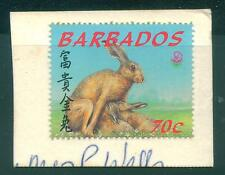 [JSC]1999 Barbados Rabbits Fauna Flora Farm Animal stamp