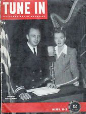 "TUNE IN Magazine ""Command Performance"" Mar 1943 SUPERMAN In RADIO ARTICLE Rare"