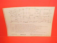 1959 FORD FAIRLANE 500 GALAXIE CUSTOM 300 CLUB SEDAN WAGON FRAME DIMENSION CHART