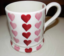 emma bridgewater  PINK HEARTS STACK   1/2 PINT MUG  NEW